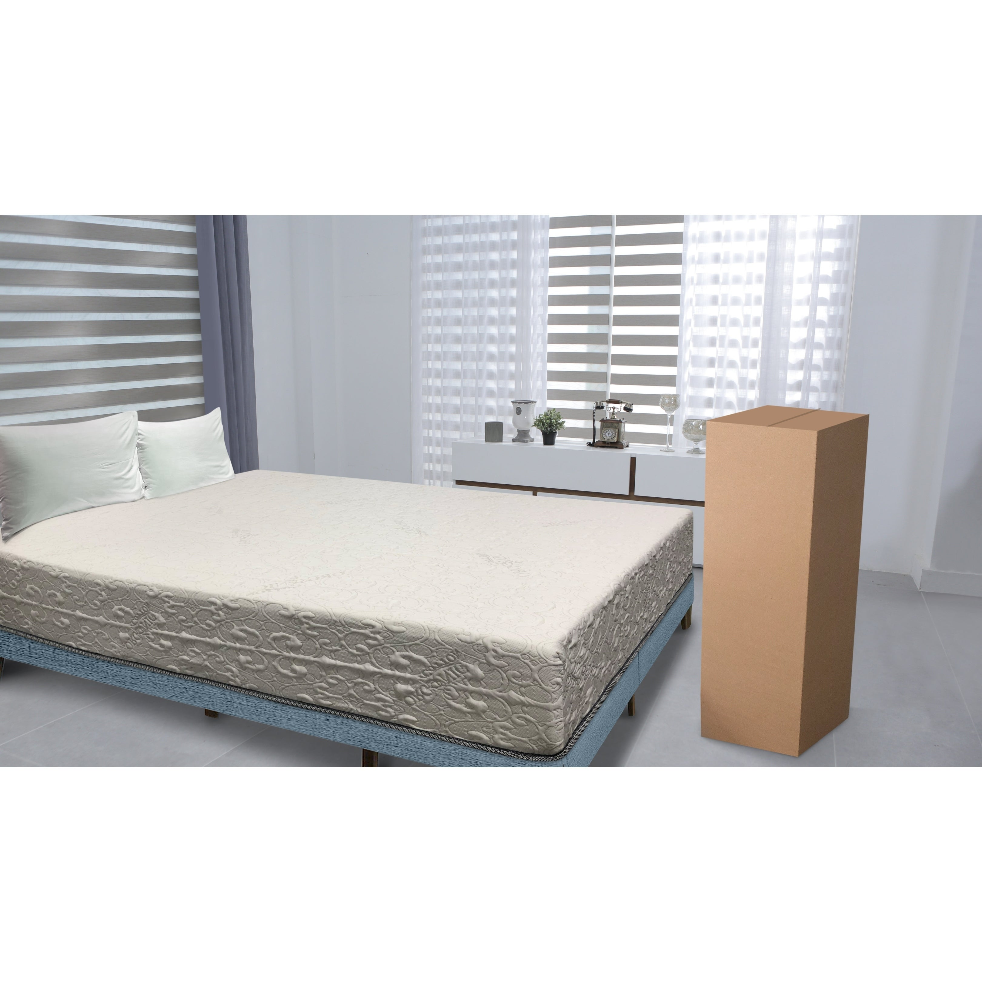 Double Layered 9-Inch Cal King-size Memory Foam Mattress ...