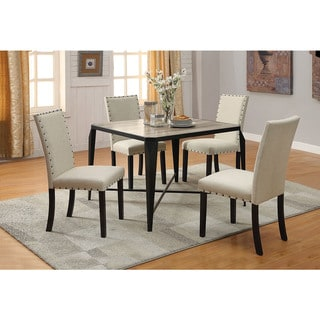 Copper Grove Antioch Fabric & Black Dining Chair (Set of 2)