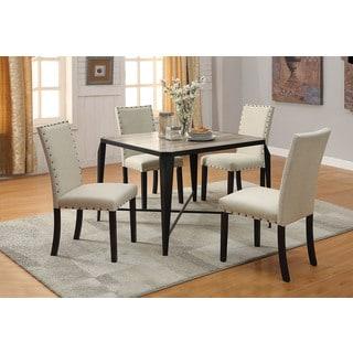 Fabric & Black Oldlake Dining Chair (Set-2)