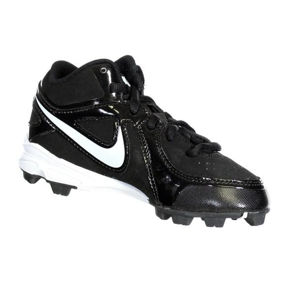 Nike Kids\u0026#x27; MVP Keystone White Synthetic Baseball Cleats