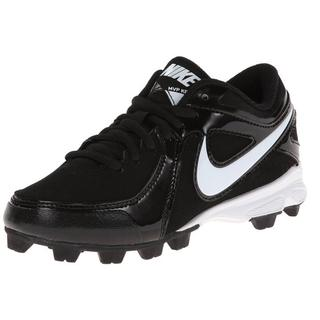 Nike Boys' Keystone Black/White Synthetic Low Legs Molded Baseball Cleats