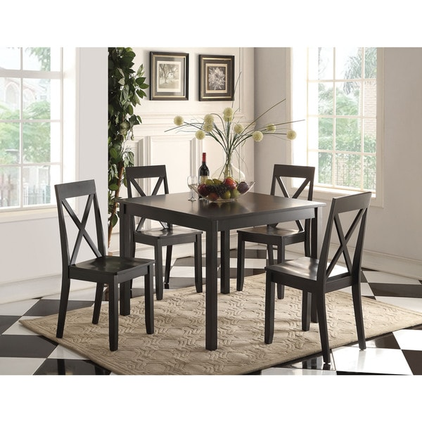 Dark Wood Dining Set: Shop Zlipury Black Wood 5-piece Dining Set