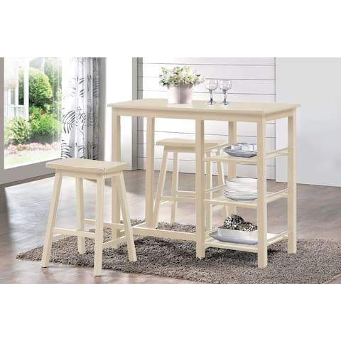 Nyssa Buttermilk 3-piece Counter-height Dining Set