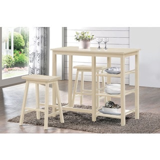 Nyssa Buttermilk 3-piece Counter-height Dining Set