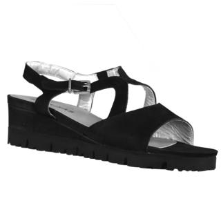 Sabrinas Mikonos Women's Nubuck Red/Black Leather Sandals