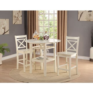 Havenside Home Saybrook 2-piece Cream Counter Height Chair Set