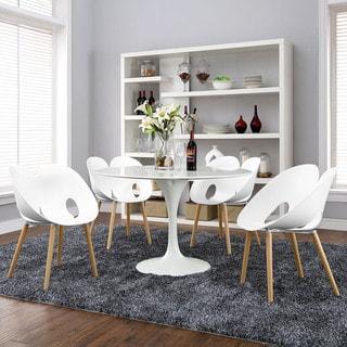Envelope White 4-piece Dining Set