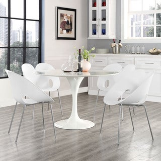 White Chrome Steel Envelope Chairs (Set of 4)