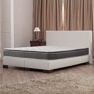 10-Inch Medium Firm Foam Encased Pillowtop Pocketed Coil Innerspring Fully Assembled Mattress, and 4 inch Split Box Spring