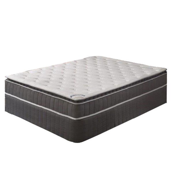 Shop Acura Pillow Top Queen Size Innerspring Mattress And 4 Inch