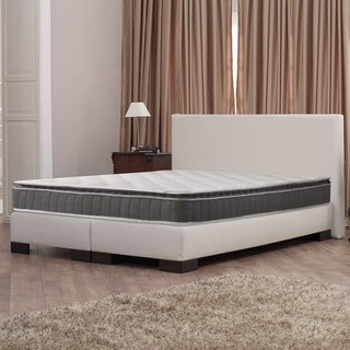 10-Inch Medium Firm Foam Encased Pillowtop Pocketed Coil Innerspring Fully Assembled Mattress, Good For The Back