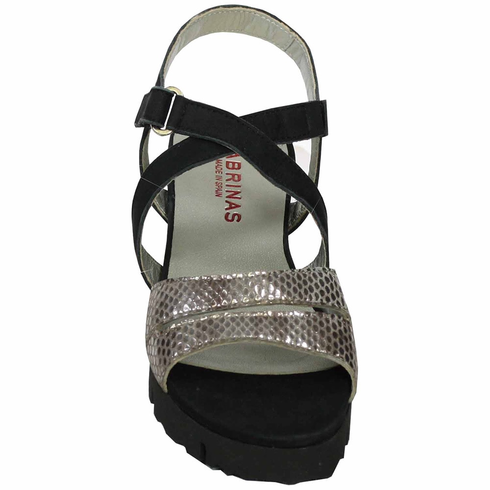 Sabrinas Women's 55004 Ibiza Onyx Nubuck and Reptile Leather Sandals Sandals Sandals 5d6830