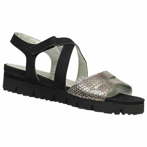 Sabrinas Womens 55004 Ibiza Onyx Nubuck and Reptile Leather Sandals