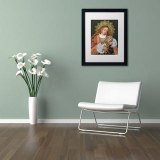 Sergio Cruze 'The Virgin and Son IV' Matted Framed Art