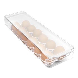 Sorbus Clear Plastic Egg Organizer