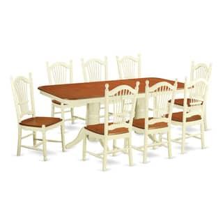 NADO9 WHI Cream Cherry Rubberwood 9 Piece Kitchen Table Set Including Small