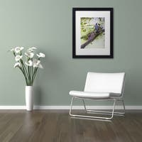 Kurt Shaffer 'Green Heron II' Matted Framed Art