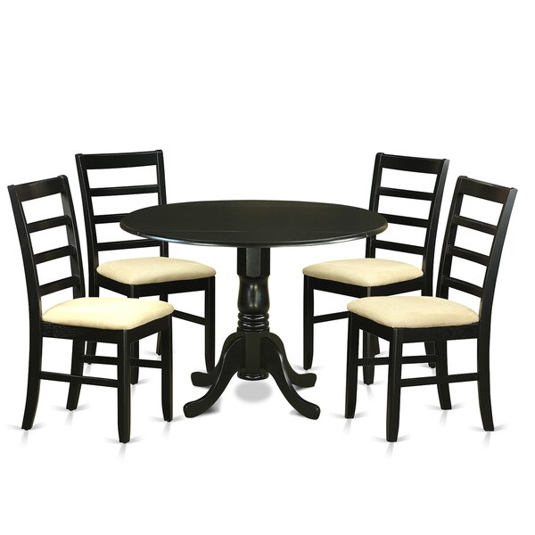 5 Piece Small Round Table And 4 Dining Chairs: Shop 5-piece Kitchen Table Set With Small Kitchen Table