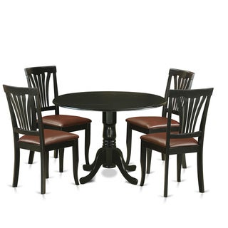 5-piece Dublin Kitchen Table Set with Dining Table and 4 Kitchen Chairs