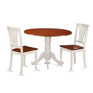 3-piece Kitchen Table Set with Dining Table and 2 Kitchen Chairs