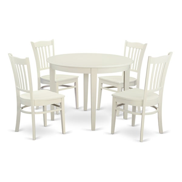 5 piece dinette set with small kitchen table and 4 dining room chairs free shipping today - Small space dinette sets set ...