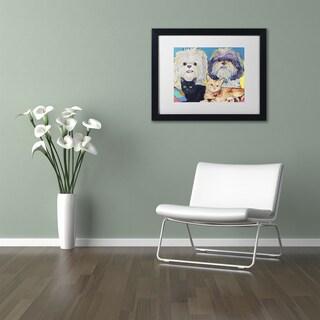 Pat Saunders-White 'Family' Matted Framed Art