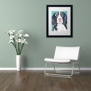 Pat Saunders-White 'Dodger' Matted Framed Art