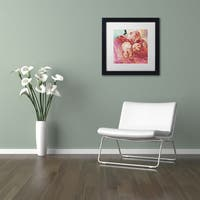 Pat Saunders-White '3 Circles' Matted Framed Art