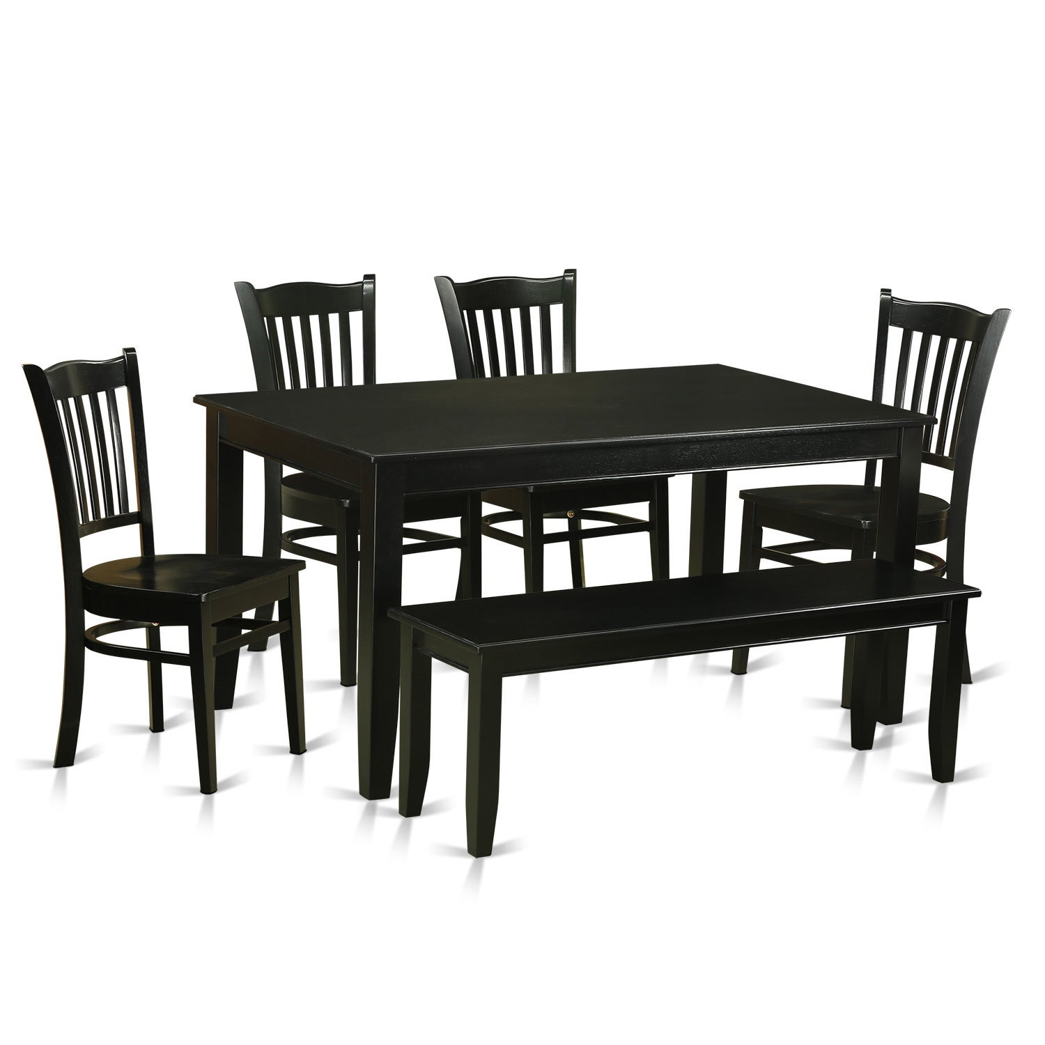 Rubberwood 6 Piece Dining Room Set