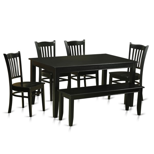 black rubberwood 6 piece dining room set free shipping today