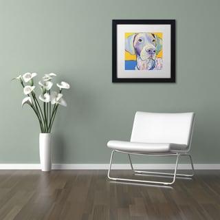 Pat Saunders-White 'Blue' Matted Framed Art