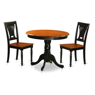 Antique Dining Set with 3 Pieces with 2 Wooden Chairs