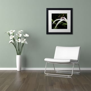 Kurt Shaffer 'Graceful Lily' Matted Framed Art