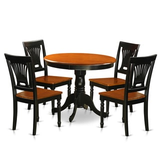 Antique 5-piece Dining Set with Wooden Chairs