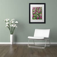 Kurt Shaffer 'Tulips' Matted Framed Art