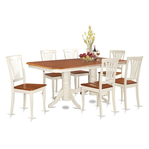 Naav7 Cream Rubberwood 7 Piece Dining Room Set