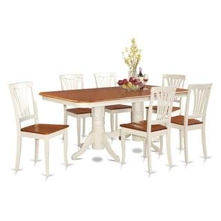 NAAV7 Cream Rubberwood 7-piece Dining Room Set