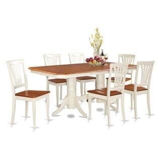 NAAV7 Cream Rubberwood 7 Piece Dining Room Set