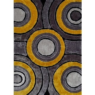 Handmade Multicolored Viscose Shag Area Rug (4' x 5'4)