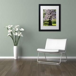 Kurt Shaffer 'Spring Magnolia' Matted Framed Art
