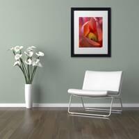 Kurt Shaffer 'Glowing Tulip' Matted Framed Art