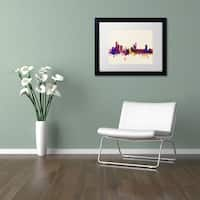 Michael Tompsett 'Birmingham Skyline' Matted Framed Art