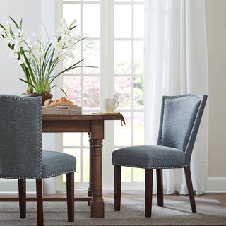 "Madison Park Everitt Blue Multi Dining Chair (Set of 2) - 21.75""w x 25""d x 35.5""h"