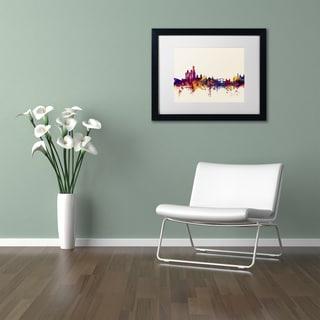 Michael Tompsett 'Amsterdam Skyline' Matted Framed Art
