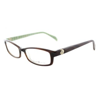 Kate Spade Elisabeth JDJ Women's Brown/Green Plastic Eyeglasses