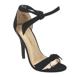 Chase & Chloe CE37 Women's Bow Tie Ankle Strap Dress Sandals