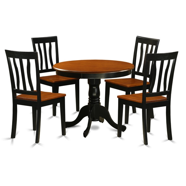 Vintage Wooden Kitchen Chairs: Shop Antique Dining Set With 5 Pieces With 4 Solid Wood