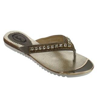 ITALINA DF5419 Women's Open-toe Thongs Slip-on Sandals