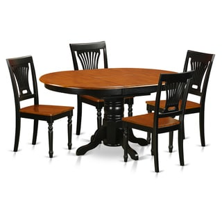 Avon Black and Cherry Rubberwood 5-piece Dining Room Set with Dining Table and 4 Solid Wood Chairs