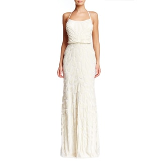Lotus Threads Women's Crisscross Back Petal Gown